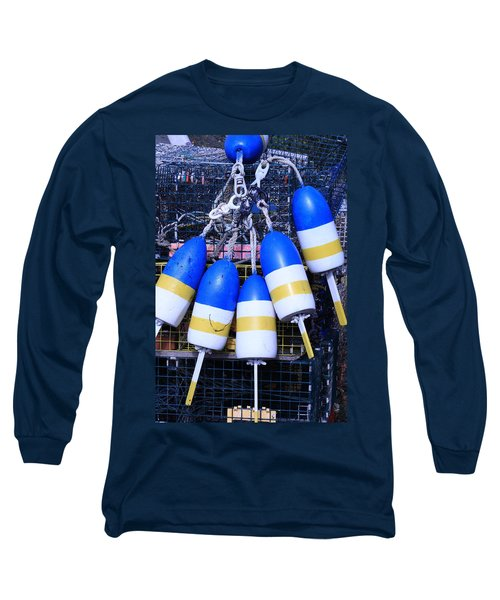 Blue And Gold Bouys Long Sleeve T-Shirt