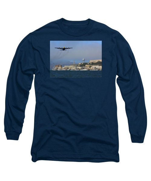 Blue Angels C130 Fat Albert Passes Alcatraz Long Sleeve T-Shirt