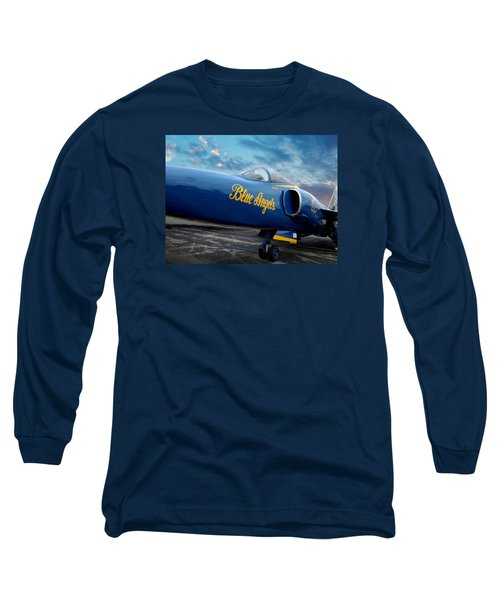 Long Sleeve T-Shirt featuring the photograph Blue Angels Grumman F11 by Rod Seel