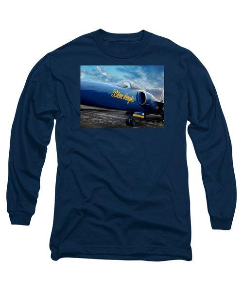 Blue Angels Grumman F11 Long Sleeve T-Shirt by Rod Seel