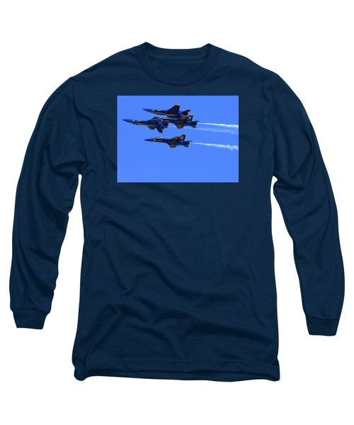 Blue Angels Perform Over San Francisco Bay Long Sleeve T-Shirt
