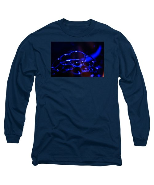 Blue Bubbles Long Sleeve T-Shirt by Jana Russon