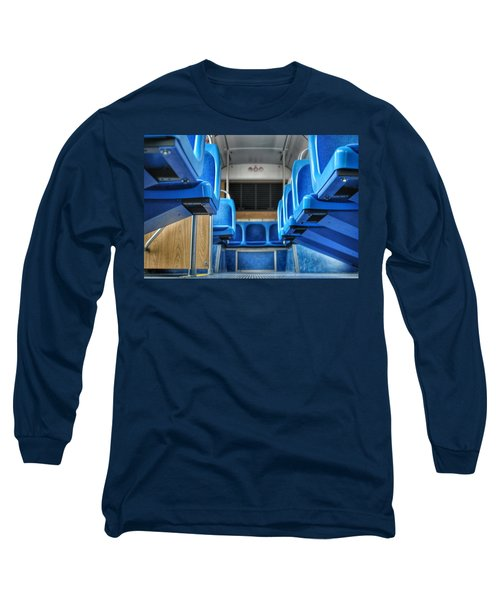 Blue Bus Seats Long Sleeve T-Shirt
