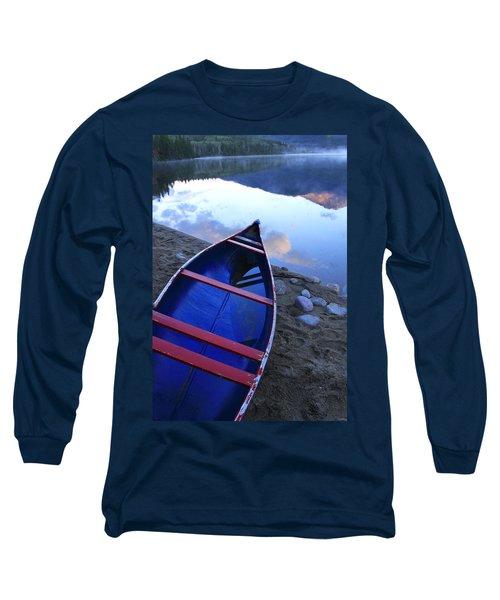 Blue Canoe Long Sleeve T-Shirt by Catherine Alfidi