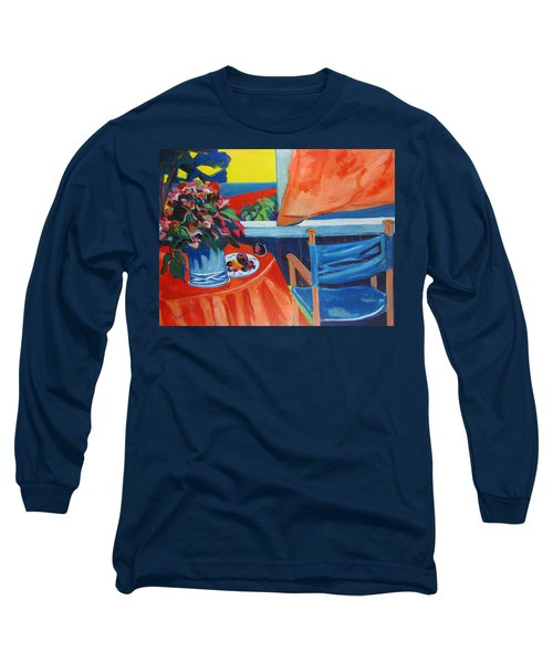 Blue Canvas Chair Long Sleeve T-Shirt