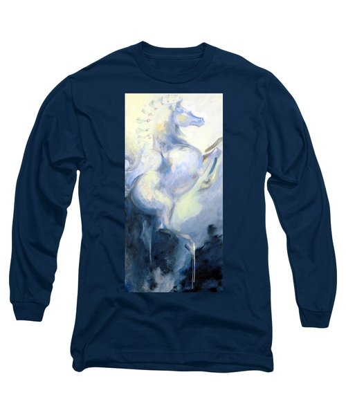 Blue Circus Pony 1 Long Sleeve T-Shirt