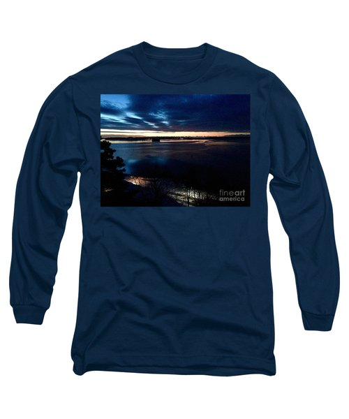 Blue Dawn On Casco Bay Long Sleeve T-Shirt