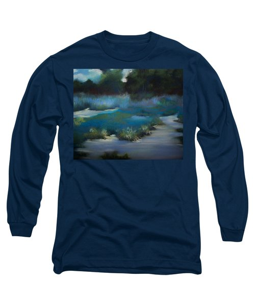 Blue Eden Long Sleeve T-Shirt by Marika Evanson