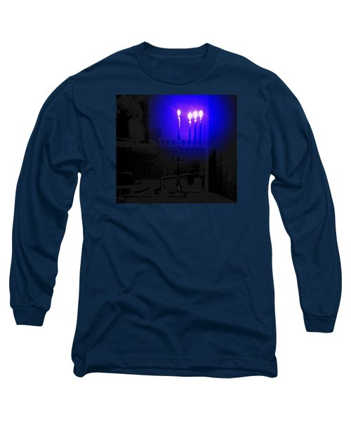 Blue Hanukkah On The Third Day Long Sleeve T-Shirt