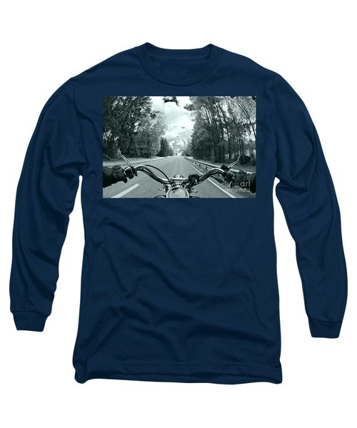 Blue Harley Long Sleeve T-Shirt by Micah May