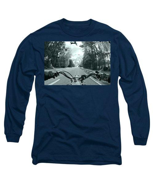 Blue Harley Long Sleeve T-Shirt