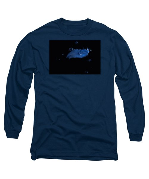Blue Heron Feather Long Sleeve T-Shirt