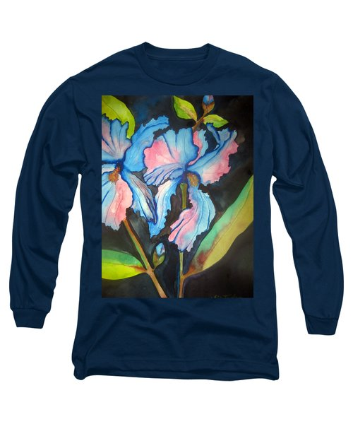 Blue Iris Long Sleeve T-Shirt by Lil Taylor