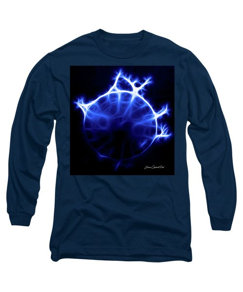 Blue Jelly Fish Long Sleeve T-Shirt by Joann Copeland-Paul