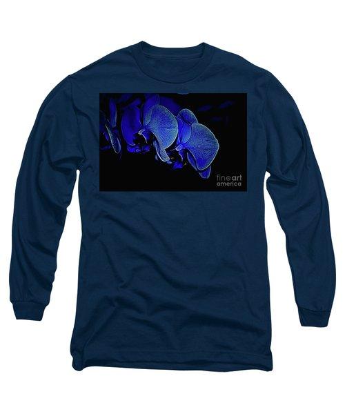 Blue Light Long Sleeve T-Shirt by Diana Mary Sharpton