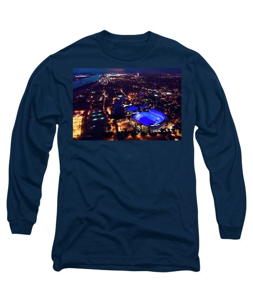 Blue Lsu Tiger Stadium Long Sleeve T-Shirt