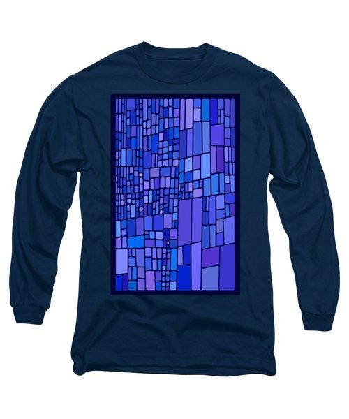 Blue Mondrian Long Sleeve T-Shirt