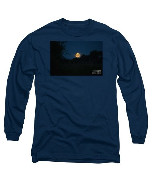 Long Sleeve T-Shirt featuring the photograph Blue Moon 2015 by Mark McReynolds