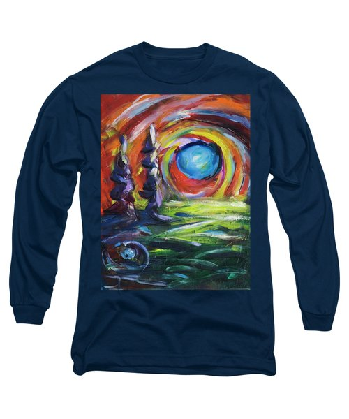 Blue Moon Long Sleeve T-Shirt by Yulia Kazansky