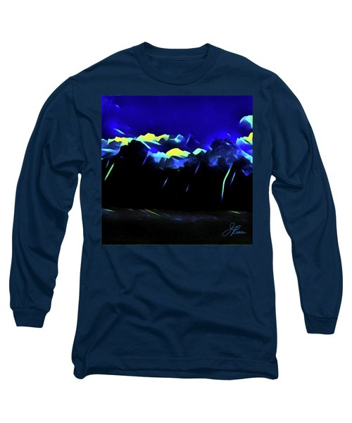 Long Sleeve T-Shirt featuring the painting Blue Mountains by Joan Reese