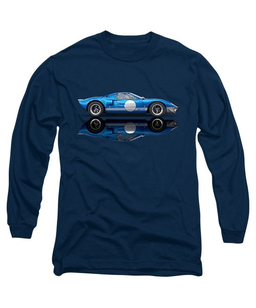 Blue Reflections - Ford Gt40 Long Sleeve T-Shirt