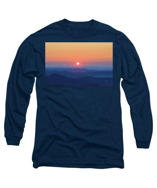 Blue Ridge Sunrise Long Sleeve T-Shirt by Dale R Carlson