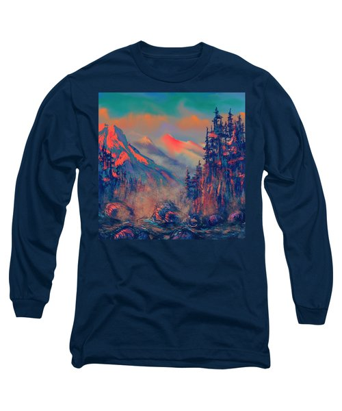 Blue Silence Long Sleeve T-Shirt
