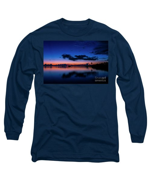 Blue Sky Night Long Sleeve T-Shirt