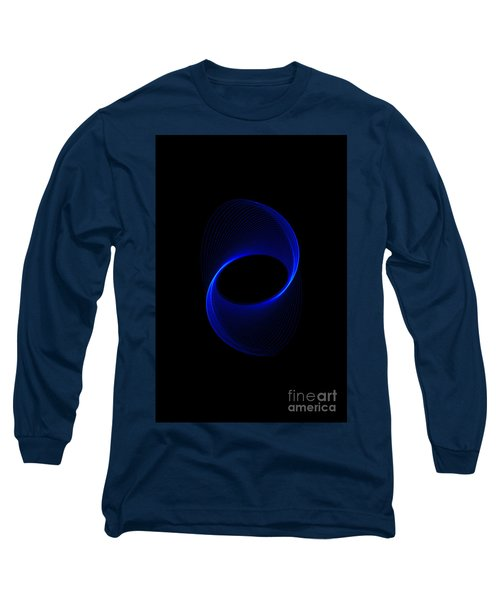 Blue Spiral  Long Sleeve T-Shirt