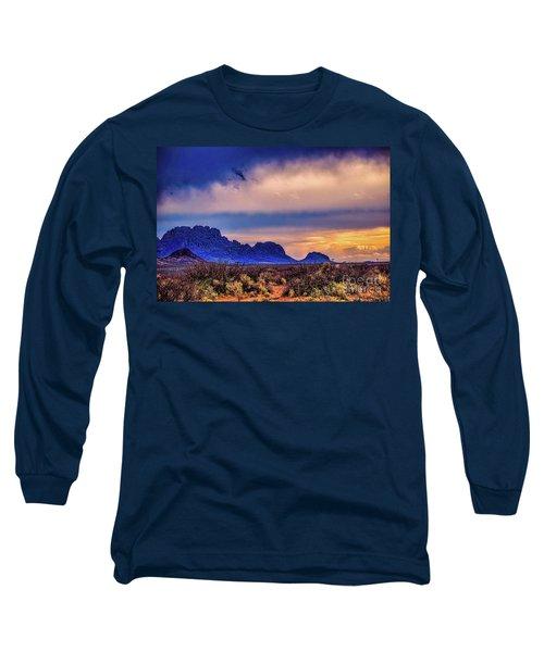 Blue Sunset Nm-az Long Sleeve T-Shirt by Diana Mary Sharpton