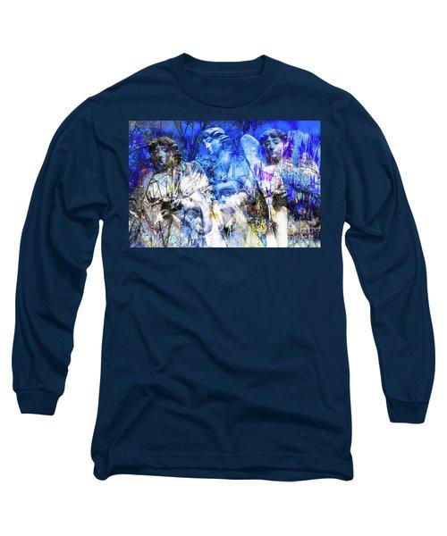 Blue Symphony Of Angels Long Sleeve T-Shirt