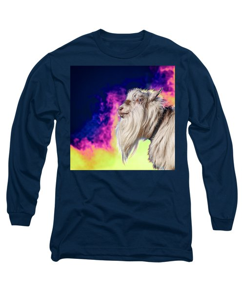 Blue The Goat In Fog Long Sleeve T-Shirt