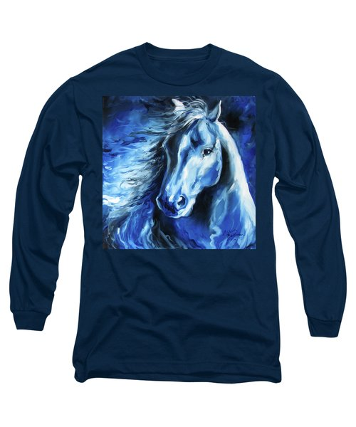 Blue Thunder  Long Sleeve T-Shirt by Marcia Baldwin