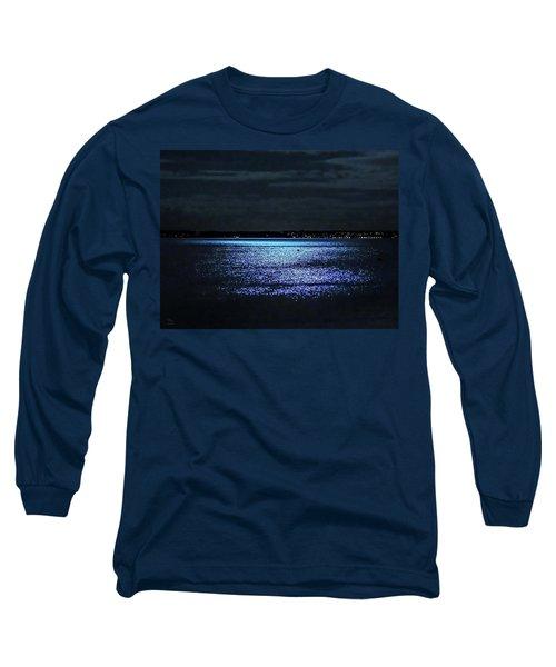 Long Sleeve T-Shirt featuring the photograph Blue Velvet by Glenn Feron