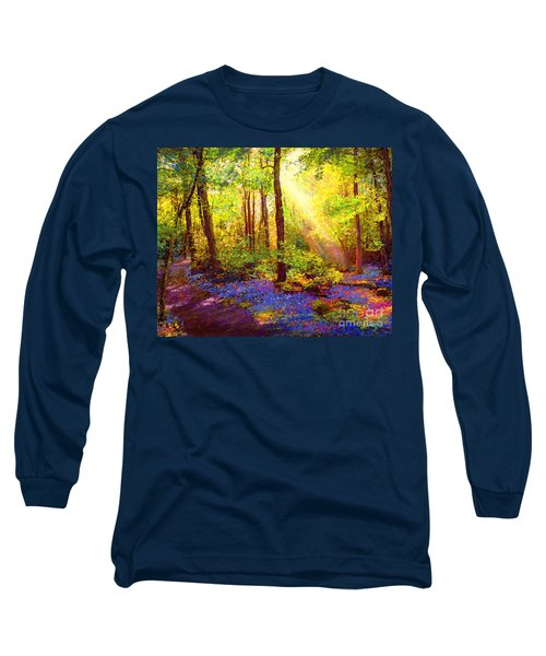 Long Sleeve T-Shirt featuring the painting Bluebell Blessing by Jane Small