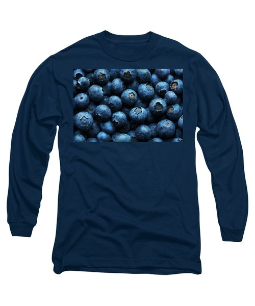 Blueberries Background Close-up Long Sleeve T-Shirt