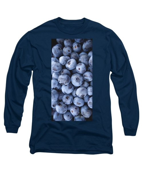 Blueberries Foodie Phone Case Long Sleeve T-Shirt by Edward Fielding