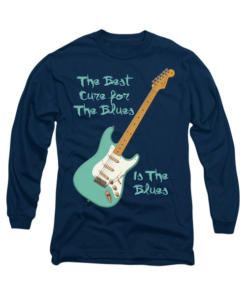 Blues Cure Seafoam Long Sleeve T-Shirt by WB Johnston