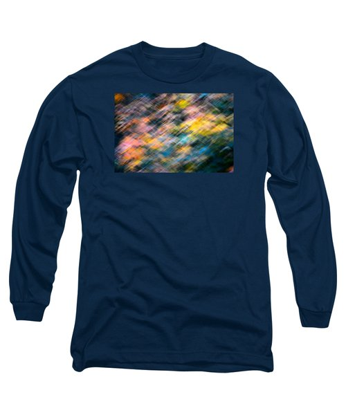 Blurred Leaf Abstract 1 Long Sleeve T-Shirt