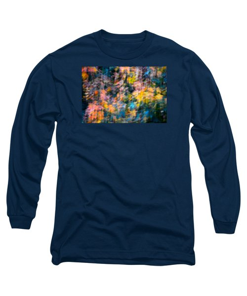 Blurred Leaf Abstract 2 Long Sleeve T-Shirt