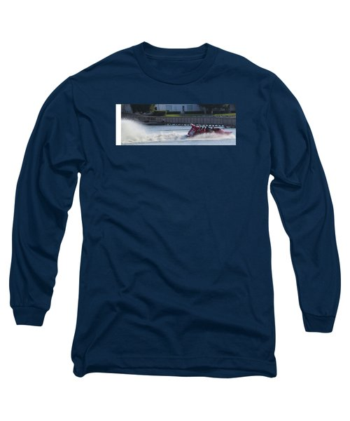 Boat On The Water Long Sleeve T-Shirt by Aaron Martens