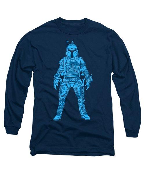 Boba Fett - Star Wars Art, Blue Long Sleeve T-Shirt