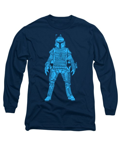 Boba Fett - Star Wars Art, Blue Long Sleeve T-Shirt