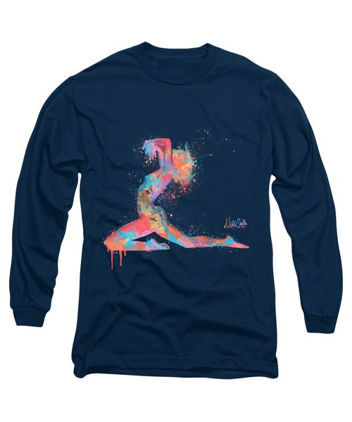 Bodyscape In D Minor - Music Of The Body Long Sleeve T-Shirt by Nikki Marie Smith