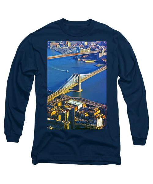 Booklyn And Manhattan Bridges Long Sleeve T-Shirt