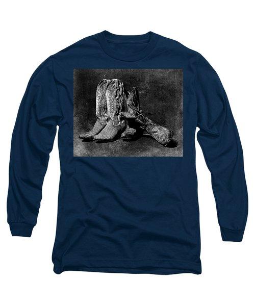 Boot Friends - Art Bw Long Sleeve T-Shirt
