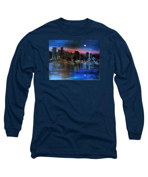 Boston At Night Long Sleeve T-Shirt
