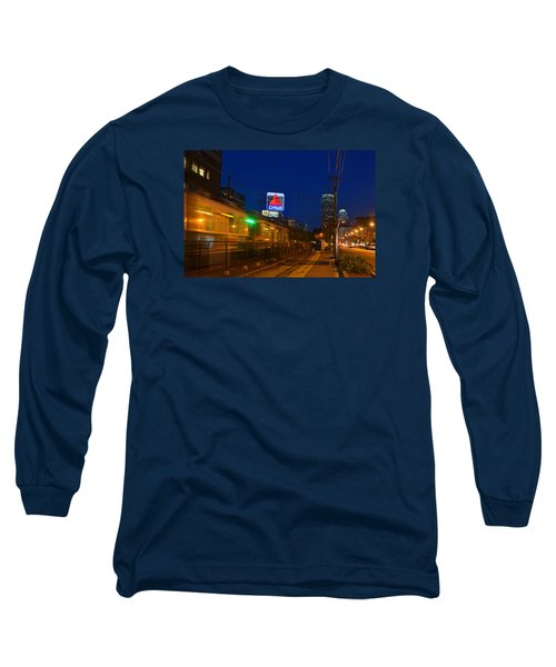 Boston Ma Green Line Train On The Move Long Sleeve T-Shirt