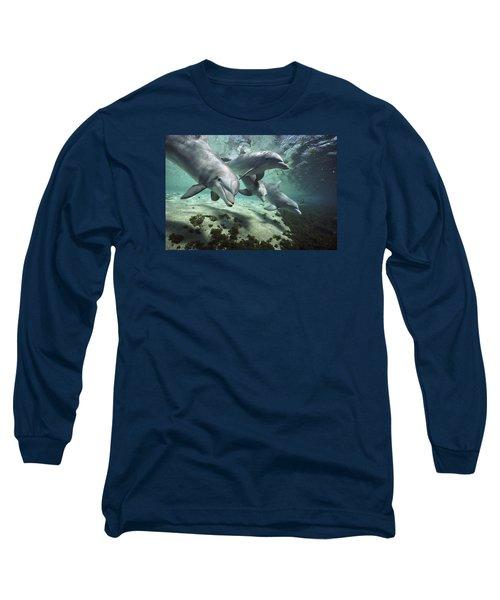 Four Bottlenose Dolphins Hawaii Long Sleeve T-Shirt