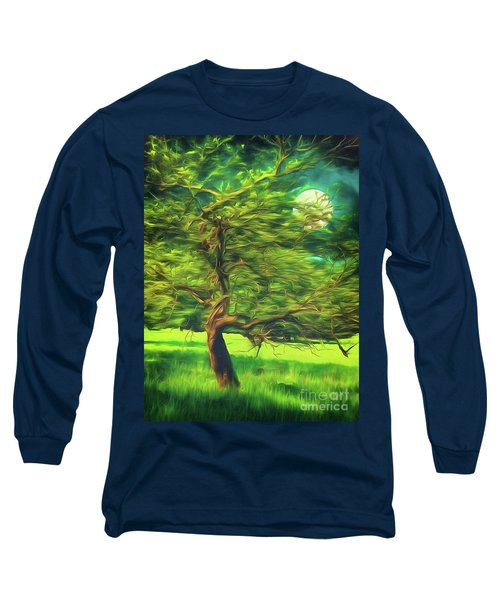 Long Sleeve T-Shirt featuring the photograph Bowing To The Moon by Leigh Kemp